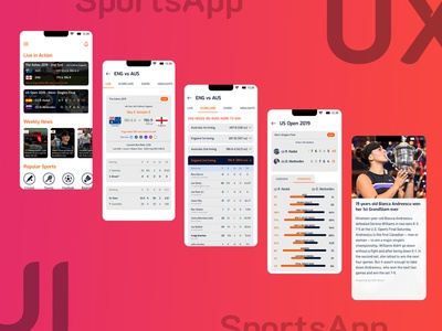SportsApp UI Design