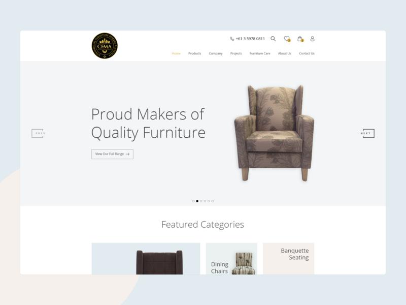 CFMA | eCommerce Website Design design products ecommerce website web ux ui minimal flat