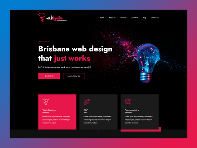 Web Ignite | Digital agency website redesign dark branding website web ux ui minimal flat design