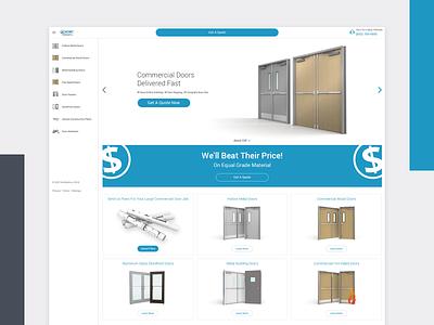 Commercial Door Company products ecommerce minimal flat design website web ux ui