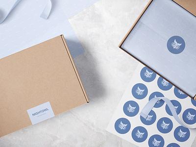 NightOwl - Sleepwear Brand Packaging clothing company clothing label clothing brand nightwear sleepwear graphic design product design packaging design packaging logo design logo identity design icon branding design