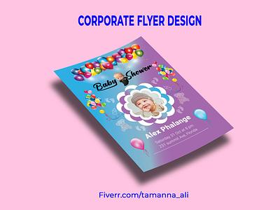 Baby shower Flyer Design branding graphics bifold trifold brochure brochure template bifold brochure brochure tri-fold graphicdesign graphic brochure design flyer design flyer baby shower