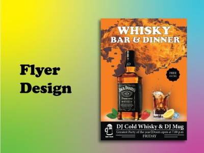 Whisky/ Party Flyer design branding trifold brochure brochure bifold graphics brochure template bifold brochure graphicdesign brochure tri-fold brochure design whisky party flyer