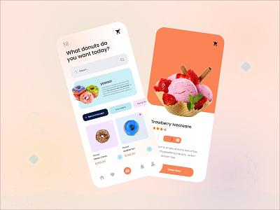 Donuts App vector ecommerce uidesign ui food app donuts food app