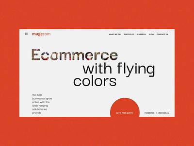 Magecom home page design developer portfolio minimal web design gsndesign magecom typography animation web ux ui motion design webdesign website