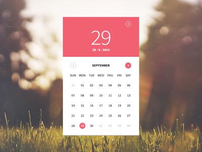 Calendar Widget calendar widget ui flat simple minimal
