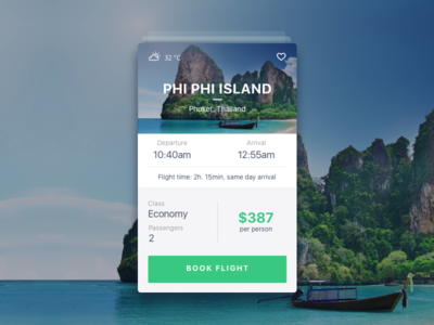 Travel Card minimal clean ios ui mobile card app travel