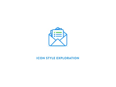 Mail icon envelope news mail outline exploration style icon