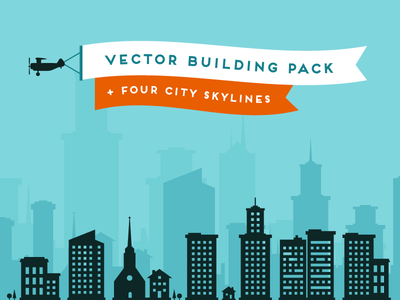 Lil Buildings vector silhouettes vector silhouette buildings houses city skyline creative market
