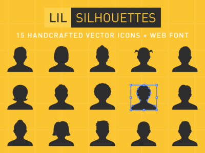 Lil Silhouettes Icon set