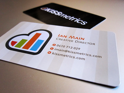 A KISSmetrics business card
