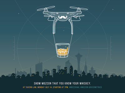 MozCon Whiskey Challenge Poster kissmetrics mozcon poster quadcopter whiskey