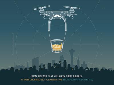MozCon Whiskey Challenge Poster kissmetrics mozcon poster quadcopter whiskey