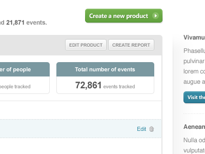 KISSmetrics dashboard work