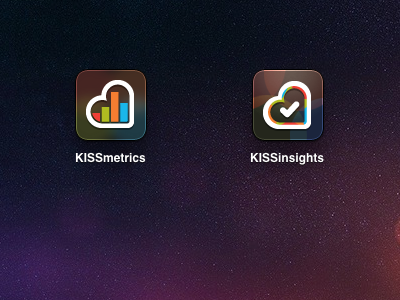 KISSmetrics & KISSinsights iPad home screen icons kissinsights kissmetrics ipad icons