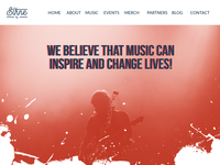Homepage Mockup design