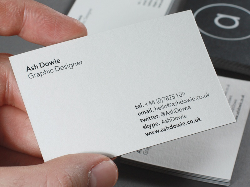 Personal Branding Business Cards By Ash Dowie Dribbble Dribbble