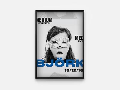 Medium Events Björk Poster