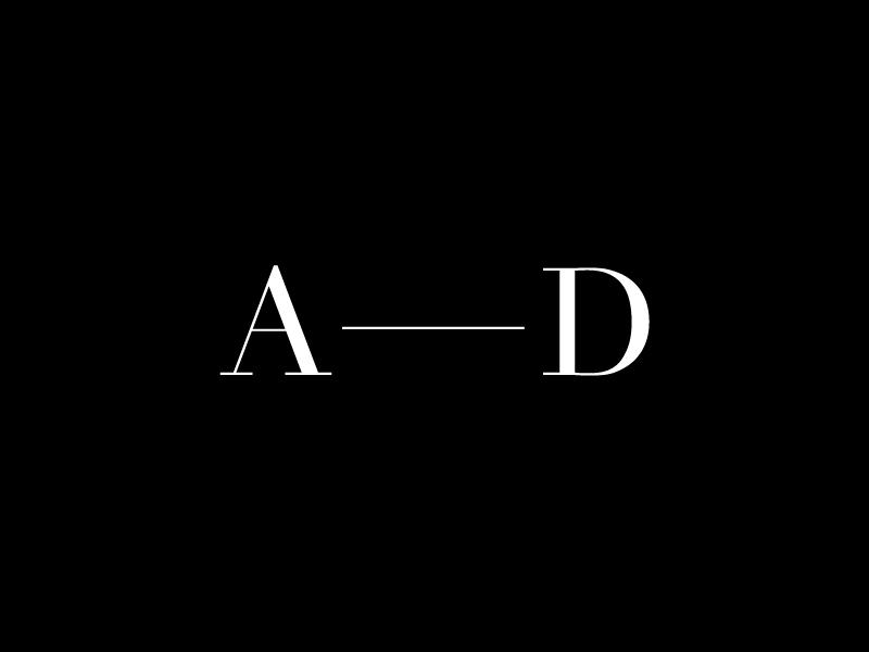 Personal logo 2017 ash dowie portfolio minimalist minimal mono typography type logo branding personal