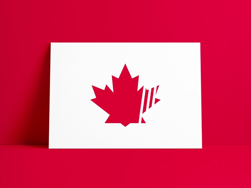 Canada Day 🇨🇦 card poster minimal minimalist icon flag red brand branding logo day canada