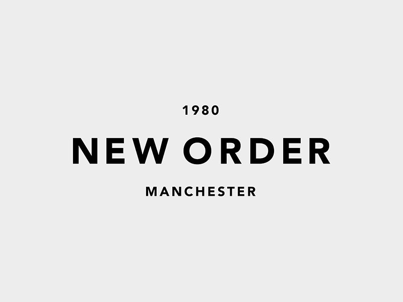 New Order new order music identity simple typography type mark minimalist minimal mono branding logo