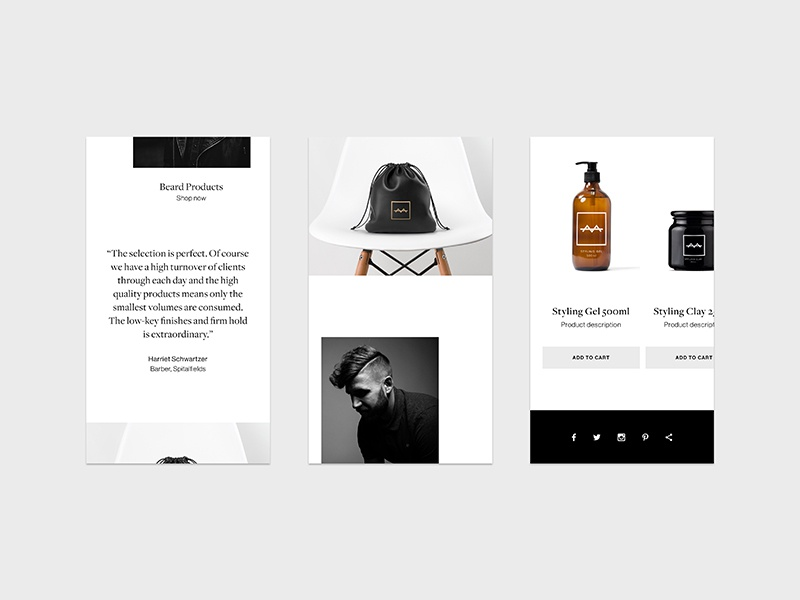 MB by The Gentry Mobile web 1 responsive mobile website ux user interface ui brand fashion minimal typography logo branding