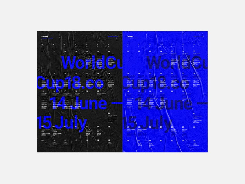 WorldCup18.co Posters branding print data football world cup minimal layout typography grid swiss posters