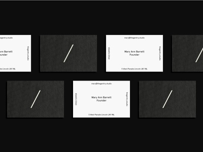 The Gentry Visual Identity — Textured Business Cards minimalist business cards print type barber icon layout logo typography minimal branding