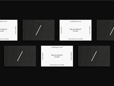 The Gentry Visual Identity — Textured Business Cards