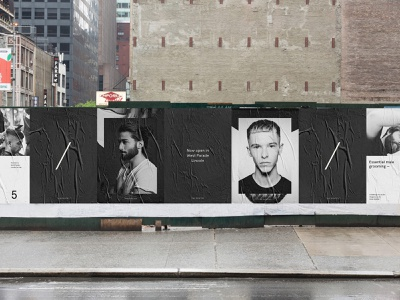 The Gentry Visual Identity — Posters new york london street posters mono black barbershop photography layout typography minimal branding