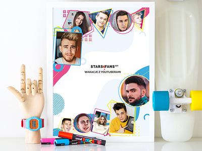 Poster for Stars4Fans! illustration poster design design poster art art poster