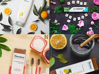 Himalaya IS advert commercial product flat flat lay concept design