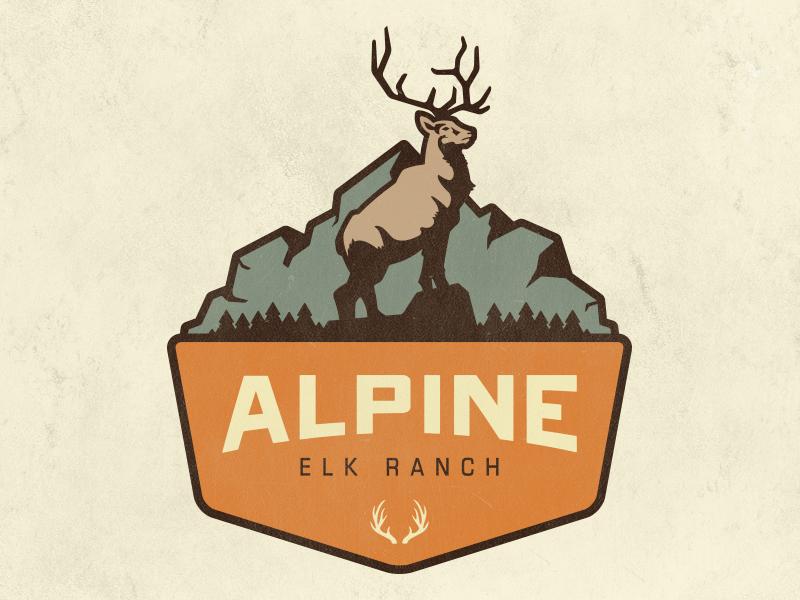 Logo Final branding elk identity illustration logo logotype logo design ranch retro vintage