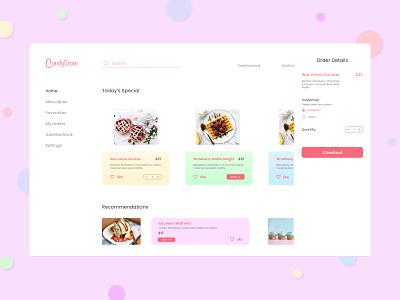 Candystore webdesign uxdesign ui design iceccream dessert commercial app illustration ios design web typography userinterface user experience ux ui design