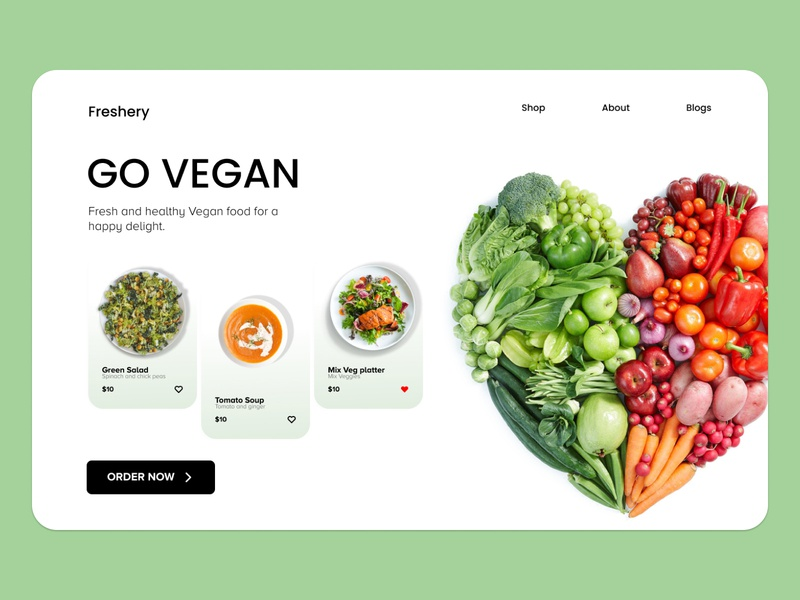 Vegan color food app vegan food vegan food branding commercial web app ux ui design