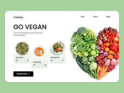 Vegan color food app vegan food vegan food branding commercial web app ux ui design