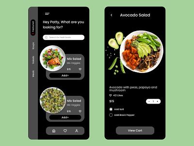vegan vegan foodapp vegan food food commercial ios design web app ux ui design