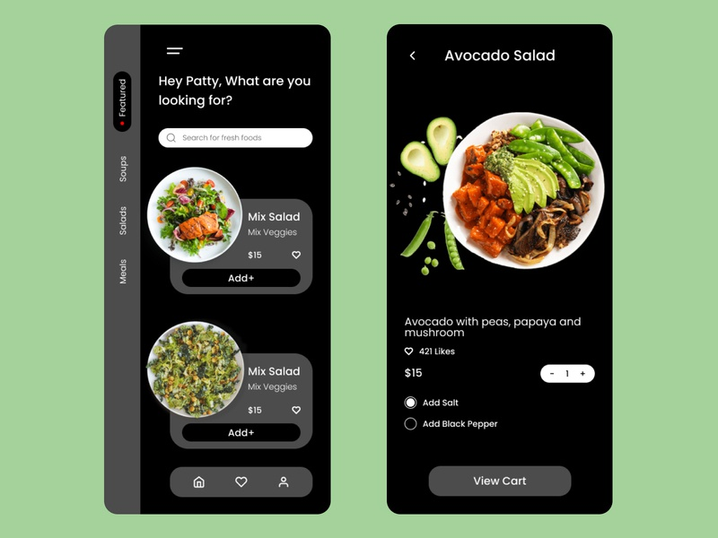 vegan vegan foodapp vegan food food commercial ios design web app ux ui design