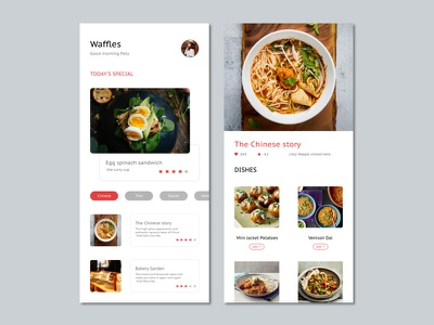 Waffles ux app web ui design