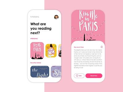 Storyteller ios design books novel illustration web ui ux design app
