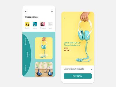 Headphone App commercial headphones ios design illustration ux ui design app