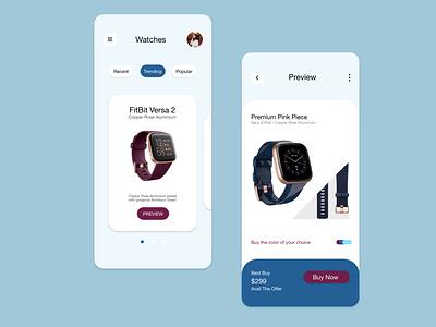 Watch App watch branding commercial web ios design illustration ux ui design app