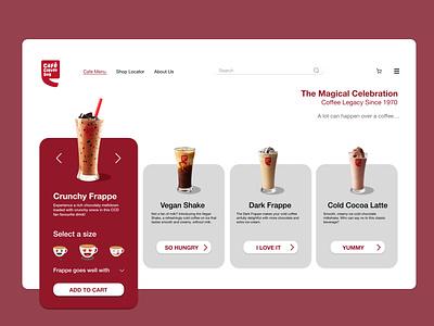 CCD coffee branding commercial web ios design illustration ux ui design