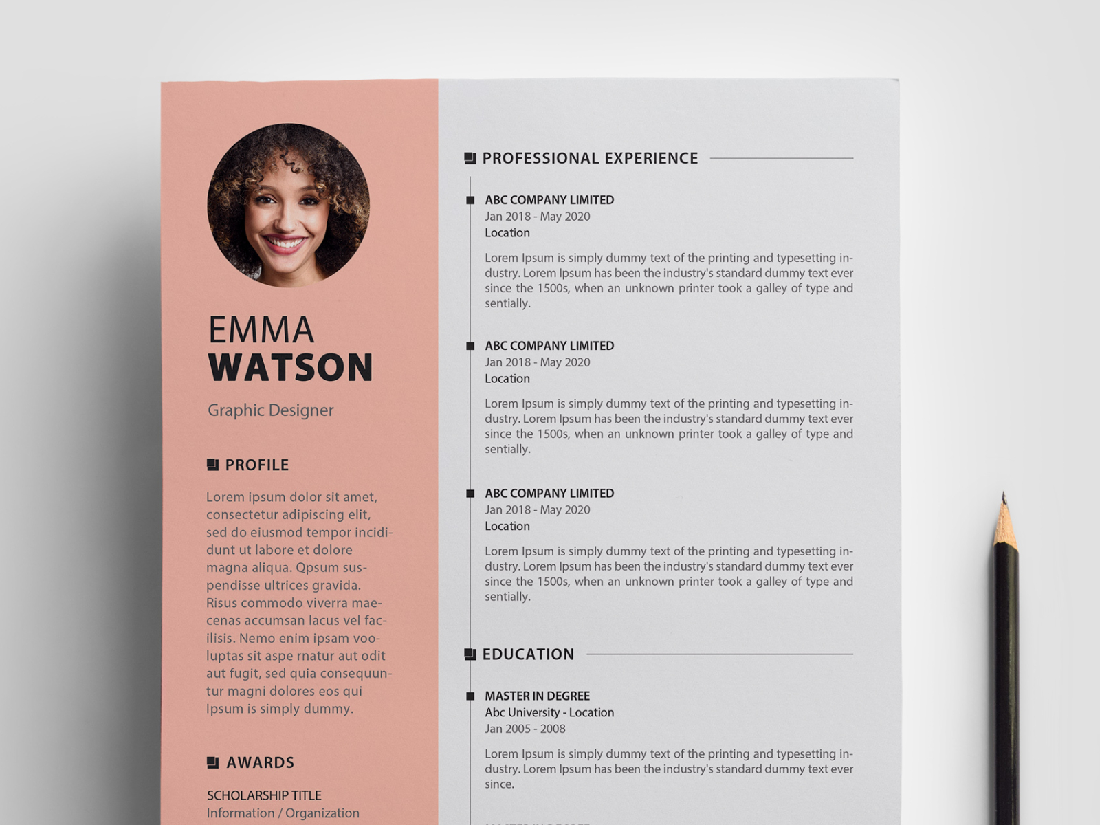 Free Psd Cv Resume Template By Graphic Design Junction On Dribbble