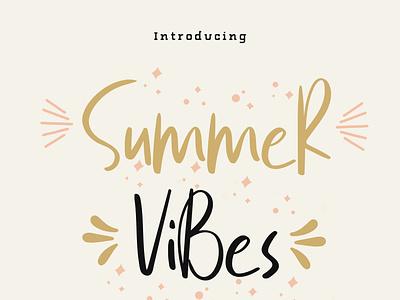 Summer Vibes Free Font download font hand written logo font freebiwe script fonts lettering summer vibes free fonts