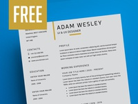 Resume Template + Cover Letter + Business Card - FREE resume business card resume matching cover free resume template stationery resume template psd template psd resume print design minimal design free resume freebie cv resume business card