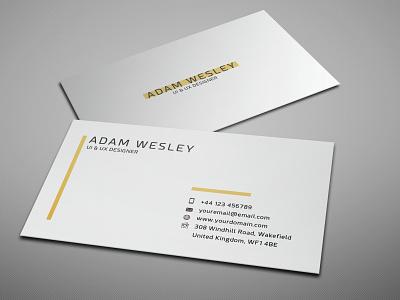 Business Card Template - Freebie branding visiting card freebie psd template business card design free business card