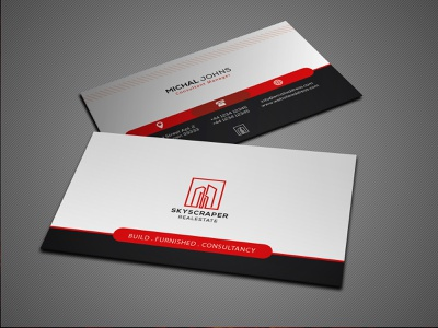 Corporate Business Card Template - FREE free psd files psd psd template print design corporate real estate visiting card branding logo businss card