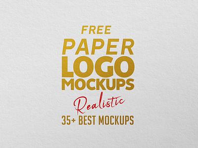 Paper Logo Mockups - FREE free psd mockups free psd files mockup template psd template visual identity branding paper mockup logo mockup