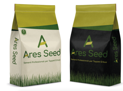 Ares Seed packaging and logo design for Geogreen